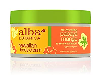 Alba Botanica Papaya Mango Body Cream, 6.5-Ounce Jar