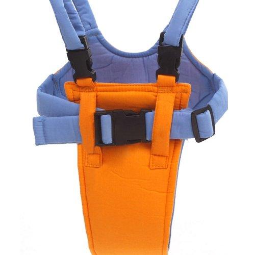 Belt Moon Baby Walker - Learn To Walk Assistant/Helper - Orange And Blue front-544348