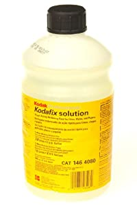 Kodak Kodafix Black & White Film and Paper Fixer with Hardener, Liquid, Makes 1 Gallon for Film, 2 Gallons for Paper.