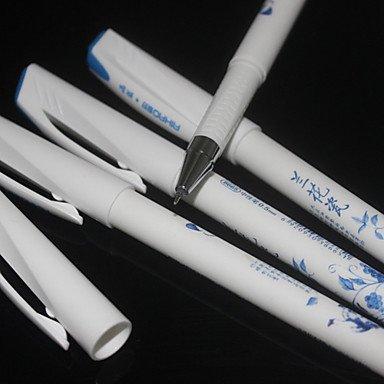 LWW Porcelana azul y blanca del estilo antiguo de la tinta azul pluma de gel (12 PCS)