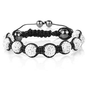 Shamballa Bracelet Crystal Balls Crystal Clear Shamballa Swarovski Element 9 Balls