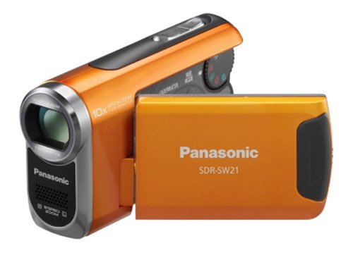 Panasonic SDR-SW21 Flash Memory Underwater  &  Sports Camcorder With SD Card Slot - Orange