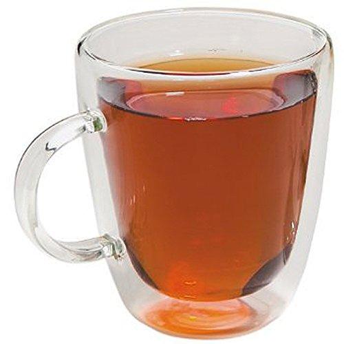 Happy Sales Double Wall Insulated Glass Coffee Mug Teacup 12 oz
