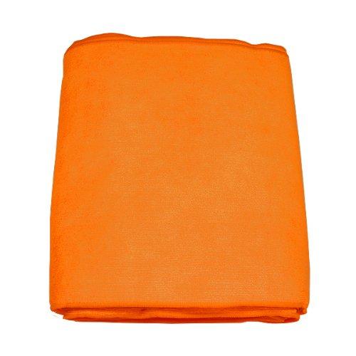 マイクロファイバー ヘア&フェイスタオル オレンジ 12枚入り 約34X85cm