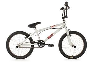"KS Cycling Fatt Vélo BMX Freestyle 20"" Blanc"