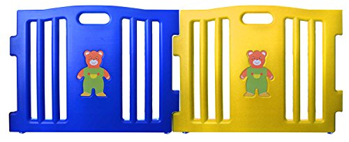 Baby Diego Cubzone Playard Panel Extension Set, Blue and Yellow - 1