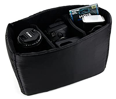 DURAGADGET Five-Pocket Padded Divider / Organizer Insert for Camera Bags - Keep Your DSLR Camera and Accessories Safe & Separated