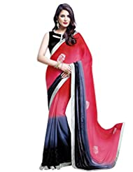 Shonaya Multi-Coloured Coloured Saree With Unstiched Blouse Piece (HISOLI-2209_Multi-Coloured)