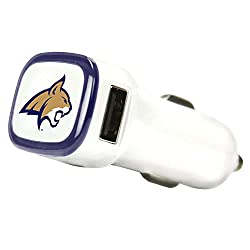 See NCAA Montana State Fighting Bobcats Car Charger, White Details