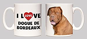 I Love Dogue de Bordeaux Ceramic Mug
