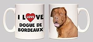 I Love Dogue de Bordeaux Ceramic Mug