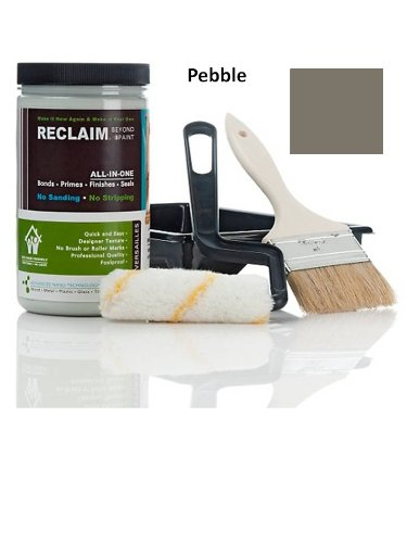 Reclaim Paint 32 Oz. PEBBLE, Cabinet or Funiture Restoration Kit /Now You Can Relaim Almost Any Surface with This Combination Primer/finish/sealer Formula That Cures to a Durable, Washable Surface in Just One or Two Coats