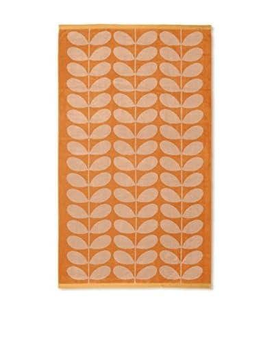 Orla Kiely Stem Jacquard Bath Sheet, Tea Rose/Orange