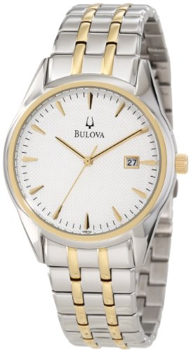 Bulova Men's 98B134 Bracelet Silver White Dial Watch