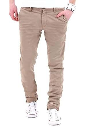 MT Styles - Jeans Slim Chino F762 - Beige - Taille : W29