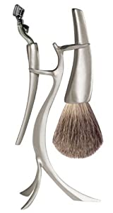eShave Luxury Flame Shaving Set with Fine Badger Hair and 3 Razor Blades
