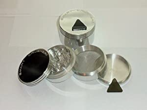 SMART CRUSHER CNC SPACE Aluminum Tobacco SPICE HERB Grinder Magnetic CASE (4parts)