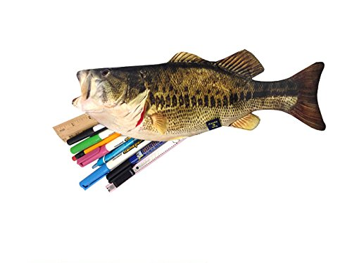 Superbe Bass Zipper Pouch Weird Fish Pen Pencil Case   For School   For Kids   For  Student (Bass) Office Supplies Office Instruments Writing Drawing  Instruments ...