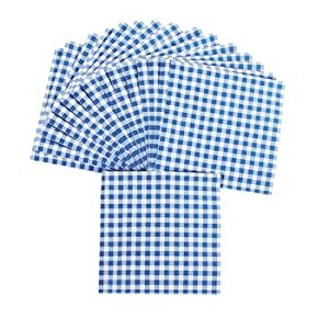 Blue Gingham Luncheon Napkins - Tableware & Napkins by Oriental Trading Company