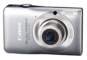 Canon PowerShot SD1300 IS 12.1 MP Digital Camera with 4x Wide Angle Optical Image Stabilized Zoom and 2.7-Inch LCD (Silver)
