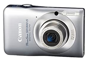 Canon PowerShot SD1300IS 12 MP Digital Camera with 4x Wide Angle Optical Image Stabilized Zoom and 2.7-Inch LCD (Silver)