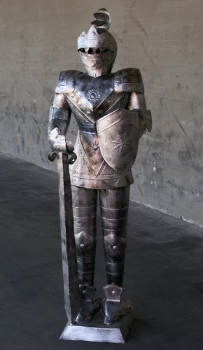 Galleon 5 Foot Silver Suit Of Armor Medieval Knight In