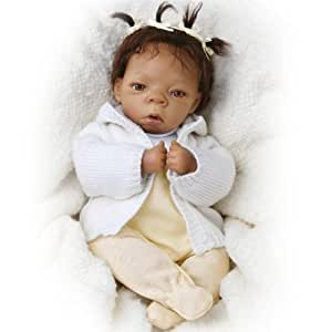 Lorna Miller-Sands Tiny Miracles Destiny Vinyl Lifelike African American Collectible Baby Doll by Ashton Drake