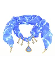 Handpicked Gift Jewel Scarfs Tie Dye Royal Blue Black Yellow Vir Fashion Accessories For Women