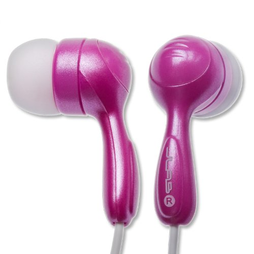 JBuds Hi-Fi Hubbub Reducing Earbuds Style Headphones (Pink)