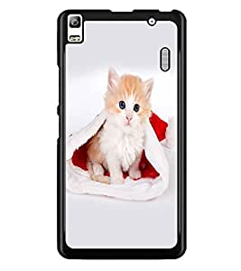 PrintDhaba Cute Kitty D-2115 Back Case Cover for LENOVO A7000 PLUS (Multi-Coloured)