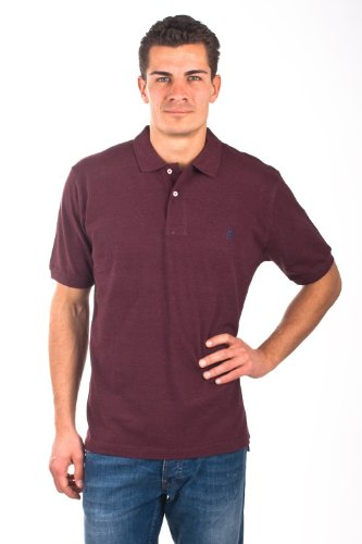 U.S.Polo Assn. men's Poloshirt Pique Bordeaux USP1005, Größe:L