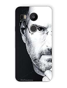 MiiCreations 3D Printed Back Cover for LG Nexus 5X,Steve Jobs