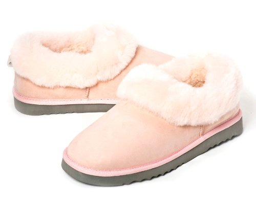 Cheap Sheep Touch Women's BALM Twin-Faced Australian Sheepskin Slippers Closed-Back Pink (B005PRA30U)