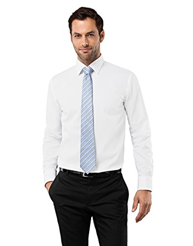 Vincenzo Boretti Men's Shirt Regular Fit Non Iron Uni,white,16.5