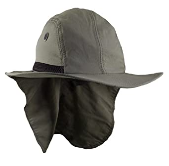 Men's Fishing or Boating Hat/Cap with Sun Flap & Wide Bill - 2 Pack Wholesale