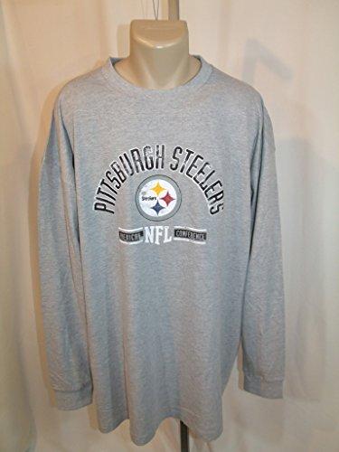 Pittsburgh Steelers 3X-Large Long Sleeve Gray Tee-Shirt