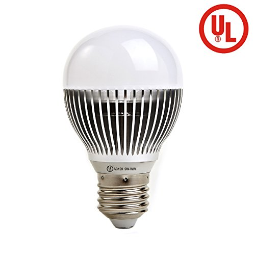 U-NE K4 Dimmable LED bulb 9-watt (90-watt equivalent) 900 Lumens Strong alloy shell, for homes, offices, hotels and shops, etc. Warm white
