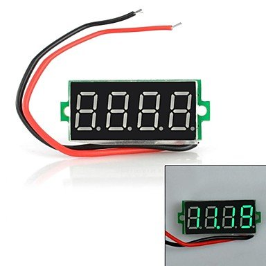 """Zcl Jtron 0.36"""" Led 4-Digit Green Display Two-Wire Four Digital Voltmeter"""