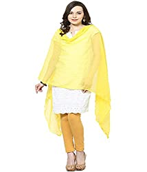 Castle Light Yellow Chiffon Dupatta