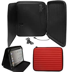 DMG Portable Case with Built-In Rechargeable Stereo Speakers for Apple iPad 2/3/4 and iPad Air