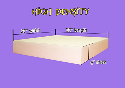 Best Deals! 6 x 20x 20 Upholstery Foam Cushion High Density (Seat Replacement , Upholstery Sheet ...