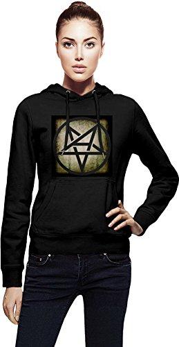 Anthrax Grunge Logo Cappuccio da donna Women Jacket with Hoodie Stylish Fashion Fit Custom Apparel By Genuine Fan Merchandise X-Large