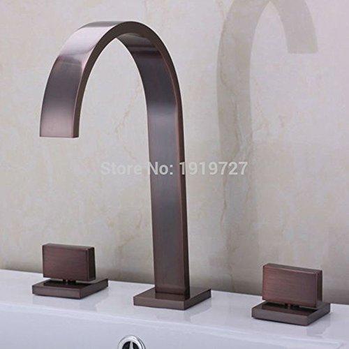 tougmoo bagno miscelatore a cascata olio strofinato bronzo diffusa 3fori rubinetto Papel De Parede listrado White
