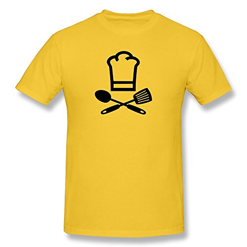 Cooker Chef Cap Very O-Neck Yellow Shirt For Guys Size Xl