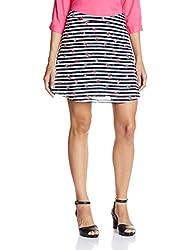 People Women's Printed Skirt (P20402064927100_Black_XXL)