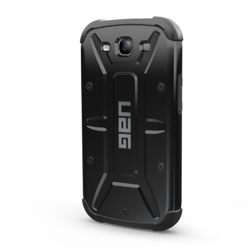 Urban Armor Gear GLXS3-COMP-BLK-VP Composite Case with Impact Resistant Bumpers for Samsung Galaxy S III/S3 - Black