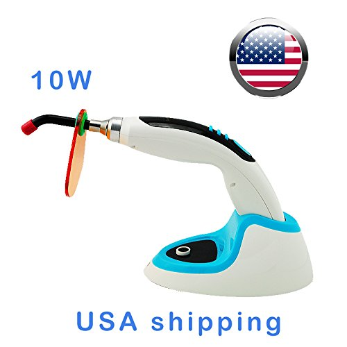 Carejoy 10W LED Curing Light Cure Lamp Curing Light Wireless Cordless 1800mw Shipping From USA with Tooth Whitening Function (Blue) (Blue Light Teeth compare prices)