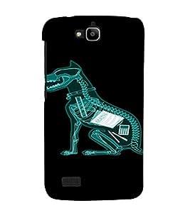PrintVisa Funny Dog Design 3D Hard Polycarbonate Designer Back Case Cover for Huawei Honor Holly
