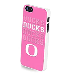 Forever Collectibles NCAA Team Pink Logo iPhone 5/5S Hard Case - Retail Packaging - Oregon Ducks