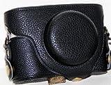 Leather Camera Case for Samsung SMART CAMERA EX2F (Black Litchi Texture)